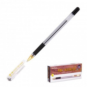 Ручка шариковая MunHwa MC Gold, узел 0,5 мм, чернила чёрные, штрихкод на ручке