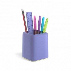 Набор настольный канцелярский 6 предметов ErichKrause Forte, Pastel, фиолетовый с желтой вставкой