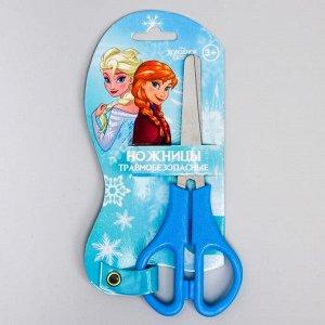 Ножницы детские 12 см, безопасные, пластиковые ручки, Холодное сердце, МИКС