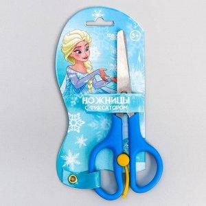 Ножницы детские 13 см, безопасные, пластиковые ручки с фиксатором, Холодное сердце, МИКС
