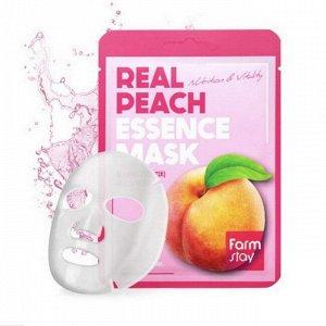 Тканевая маска для лица FarmStay Real Peach Essence Mask, 1шт*23мл