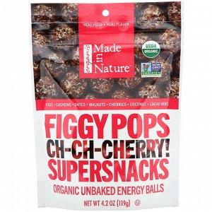 Made in Nature, Органические инжирные соусы, суперснаксы Ch-Ch-Chery, 4,2 унции (119 г)