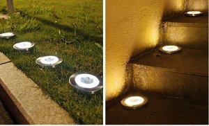 Светодиодный фонарь-таблетка на солнечной батарее