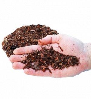 Кора лиственницы мелкой фракции(гумус).  0,1 - 1 см