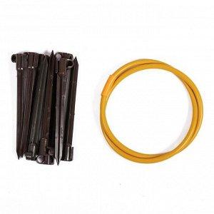 Кустодержатель, d = 50 см, h = 80 см, ножка d = 2 см, пластик, МИКС