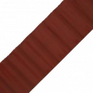 Лента бордюрная, 0.2 ? 9 м, толщина 0.6 мм, пластиковая, гофра, коричневая