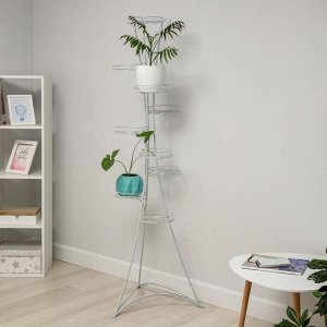 Подставка для цветов ЗМИ «Стелла-9», d=20 см, цвет белое серебро