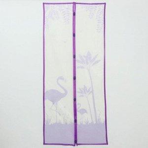 Сетка антимоскитная на магнитах «Фламинго», 90?210 см