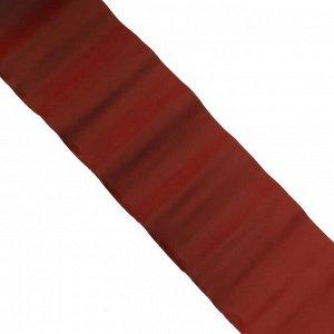 Лента бордюрная, 0.15 ? 9 м, толщина 0.6 мм, пластиковая, гофра, коричневая
