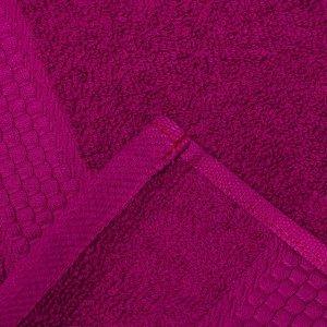 Полотенце махровое гладкокрашеное «Эконом» 70х130 см, цвет фуксия