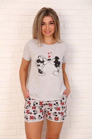 Костюм Костюм (пижама) с шортами  Состав: кулирка, хлопок 100%