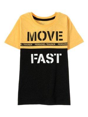 """Футболки для мальчиков """"Move yellow"""", цвет Желто-черный"""