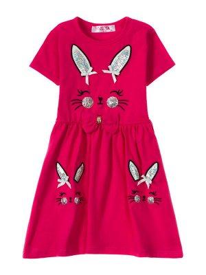 """Платья для девочек """"Honey Bunny crimson"""", цвет Малиновый"""