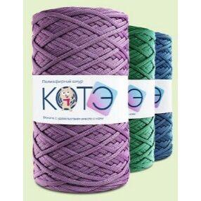 Трикотажная пряжа и полиэфирные шнуры для вязания, фурнитура — Полиэфирные шнуры без сердечника (ролик 200 м)