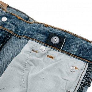 Джинсы Состав: 70% хлопок, 20% полиэстер, 8% вискоза, 2% эластан  Цвет: синий  Год: 2021 Классические джинсы выполнены из натурального материала. 5-ти карманная модель. Пояс со шлевками, при необходим