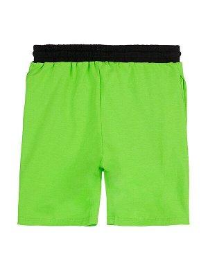 Шорты Состав: 95% хлопок, 5% эластан  Цвет: зеленый, черный  Год: 2021 *Шорты трикотажные 2 шт. в сете *высокое содержание хлопка 95% *благодаря наличию эластана в составе ткани изделие проще в ухо
