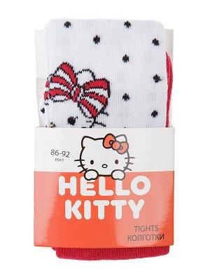 Колготки Состав: 75% хлопок, 20% нейлон, 5% эластан Цвет: белый, фуксия Год: 2021 Колготки с принтом Hello Kitty с высокой посадкой из высококачественного хлопка с добавлением нейлона и эластана. Комф