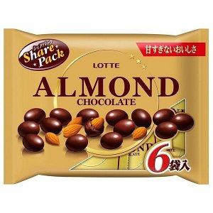 Шоколад АКЦИЯ!  Миндаль в шоколаде, набор из 6 упаковок.  Старая цена 302руб!