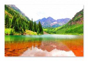 Алмазная живопись - мозаика Изумрудное озеро