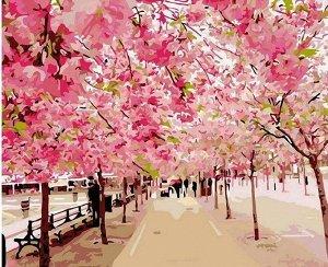 Алмазная живопись - мозаика Розовая аллея