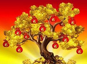 Алмазная живопись - мозаика Денежное дерево