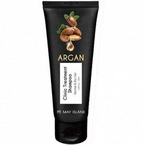 Восстанавливающий шампунь с аргановым маслом MAY ISLAND Argan Clinic Treatment Shampoo