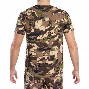 Футболка с короткими рукавами для охоты камуфляжная мужская 100 WL V1 SOLOGNAC