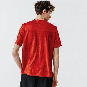 Футболка для бега мужская run dry+ breath красная kalenji