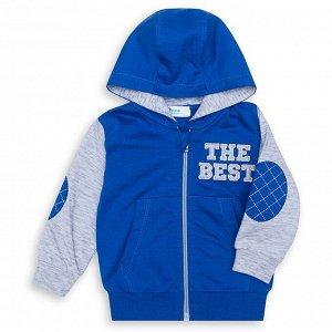 Куртка Ткань: Футер 2-х Нитка. Состав: 100% хлопокДжемпер для мальчика с капюшоном на молнии с двумя накладными карманами