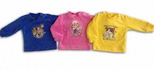 Рубашечка Велюр 100% хлопокВелюровая рубашечка из мягкой, приятной на ощупь тканис принтом Такая рубашечкаотлично себя зарекомендовалакак для детей с рождения, так и для деток дошкольного возраст