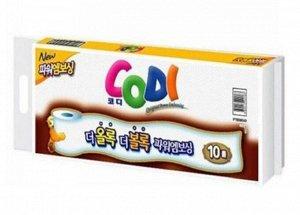 """Мягкая туалетная бумага """"Codi Bathroom Tissue"""" (двухслойная, тиснёная)  45 м *10 рулонов в индивидуальной упаковке / 1"""