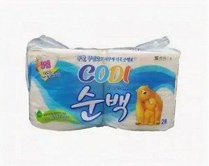 "Особомягкая туалетная бумага ""Codi Pure Deco Soft&Strong"" (трехслойная, с тиснёным рисунком) 30 м х 2 рулона / 36"