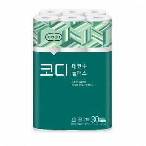 "Мягкая туалетная бумага ""CODI - Deco Plus"" (трехслойная, с тиснёным рисунком) 25 м х 30 рулонов / 3"