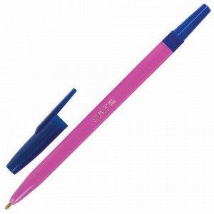 """Ручка шариковая STAFF """"Neon"""", СИНЯЯ, корпус неоновый ассорти, узел 1 мм, линия письма 0,7 мм, 142963"""
