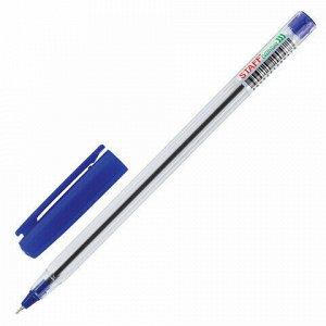 """Ручка шариковая масляная STAFF """"EVERYDAY OBP-409"""", СИНЯЯ, прозрачная, узел 0,7 мм, линия письма 0,35 мм, 143537"""