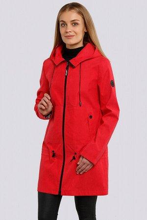 Красный Летний плащ-парка из хлопковой ткани незаменимая вещь в гардеробе. Фурнитура черного цвета – яркий акцент данной модели. Накладные карманы с клапанами, заниженная линия кулисы – модные новинки