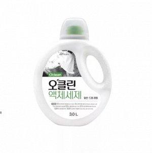 """Жидкое средство для стирки """"O'Clean"""" - 100%  органическое средство бережное для кожи взрослых и детей на основе плодов мыльного дерева и соды с антибактериальным эффектом - бутылка 3л / 4"""
