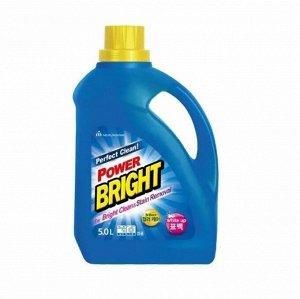 """Жидкое средство для стирки """"BRIGHT Perfect Clean Power Liquid"""" с ферментами и содой (очищающее до глубины волокон и придающее яркость) 5 л / 3"""