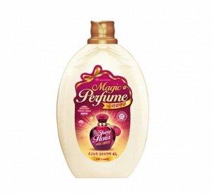 """Кондиционер-ополаскиватель для белья и одежды """"Aroma Viu Magic Perfume Softner Shiny Flora"""" с богатым ароматом персика и розы 4 л / 2"""