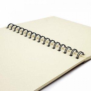 Скетчбук, слоновая кость 150г/м2, 148х210мм, 30л, гребень, BRAUBERG ART CLASSIC, 128948
