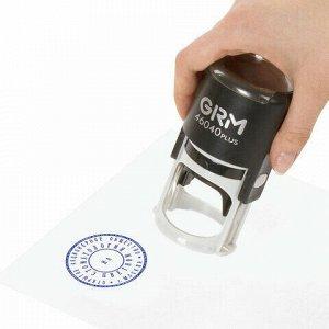 Печать самонаборная 2 круга, оттиск D=40 мм синий, GRM 46040, крышка, КАССА В КОМПЛЕКТЕ, 111000020