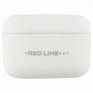 Наушники с микрофоном (гарнитура) RED LINE BHS – 07, Bluetooth, беспроводные, белые, УТ000015582