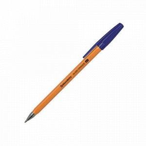 """Ручка шариковая BRAUBERG """"M-500 ORANGE"""", СИНЯЯ, корпус оранжевый, узел 0,7 мм, линия письма 0,35 мм, 143448, цена за 5шт."""