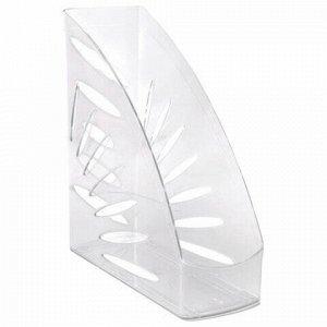 """Лоток вертикальный для бумаг, увеличенная ширина (245х263 мм), увеличенная ширина 110 мм СТАММ """"Тропик"""", прозрачный, ЛТ352"""