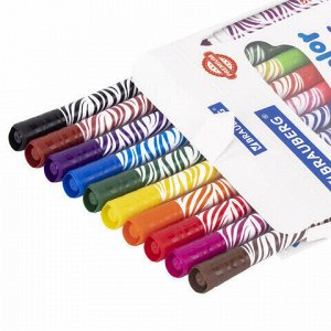 """Фломастеры двусторонние утолщенные BRAUBERG """"PREMIUM"""" """"BI-COLOR"""", 10 шт., 20 цветов, двухцветные, вентилируемый колпачок, 151945"""