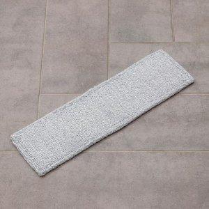 Насадка для плоской швабры, 41?12 см, микрофибра, цвет серый