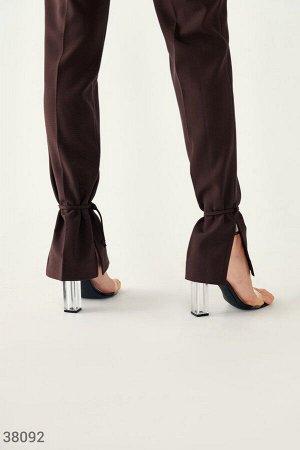 Расклешенные брюки шоколадного оттенка