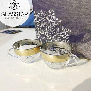 "Набор кружек Glasstar ""Барокко"" / 6 шт. 200 мл"