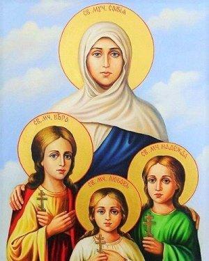 Алмазная живопись - мозаика Вера, Надежда, Любовь и их мать София