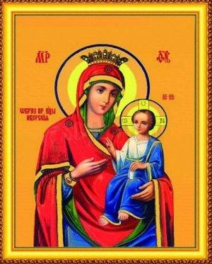 Алмазная живопись - мозаика Иверская Богородица